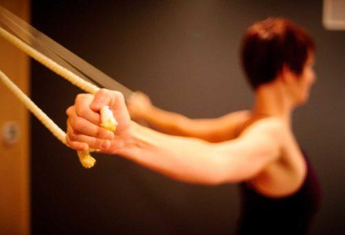 Yoga dans les cordes
