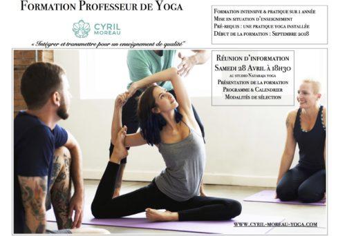 Réunion Information : Formation Professeur de Yoga avec Cyril Moreau